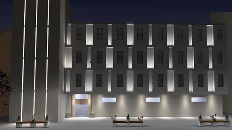 استفاده از جت لایت ها در نورپردازی خطی نمای بیرونی ساختمان