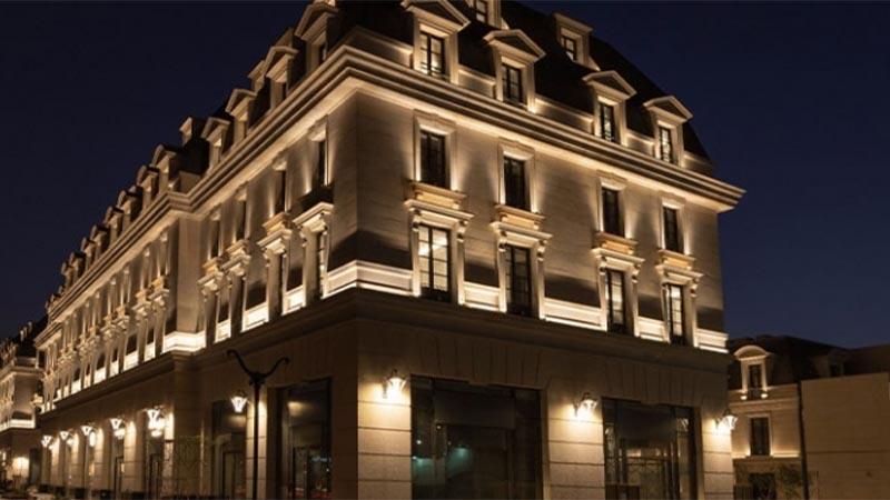 تاثیر نور مخفی در نورپردازی نمای بیرون ساختمان