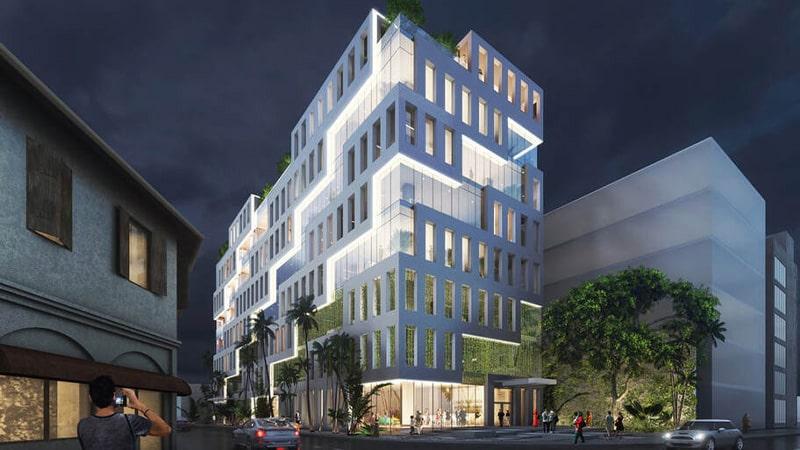 در نظر گرفتن ساختمان های اطراف در نورپردازی نمای ساختمان
