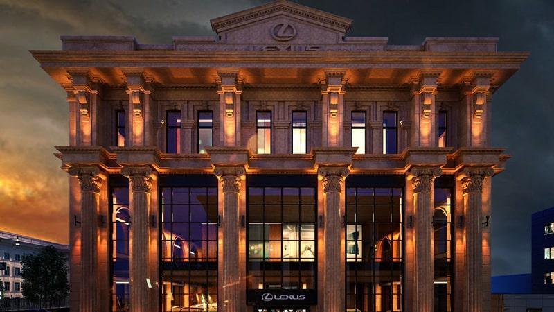نورپردازی نمای بیرونی ساختمان های کلاسیک یا مدرن