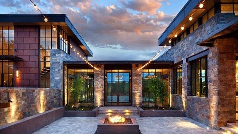نورپردازی نمای ساختمان های مدرن