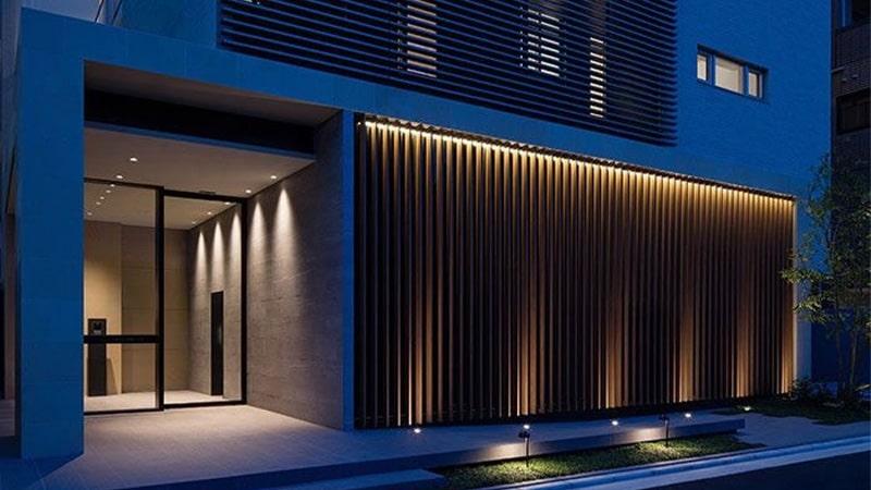 کاربرد لامپ های دفنی در نورپردازی نمای ساختمان
