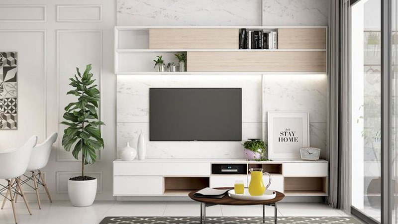 جذاب کردن دیوار پشت تلویزیون با نور مخفی