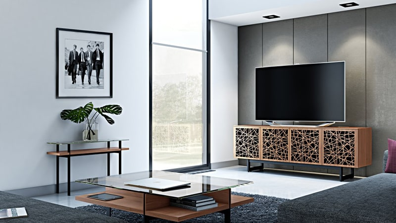 نصب نور مخفی در بالای تلویزیون