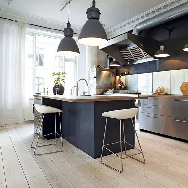 نورپردازی دکوراتیو کانتر آشپزخانه