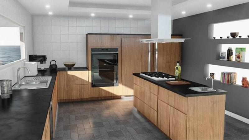 LED های سقفی آشپزخانه یا هالوژن ها